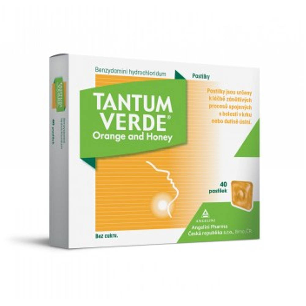 TANTUM VERDE Orange and honey orm.pas.40x3 mg