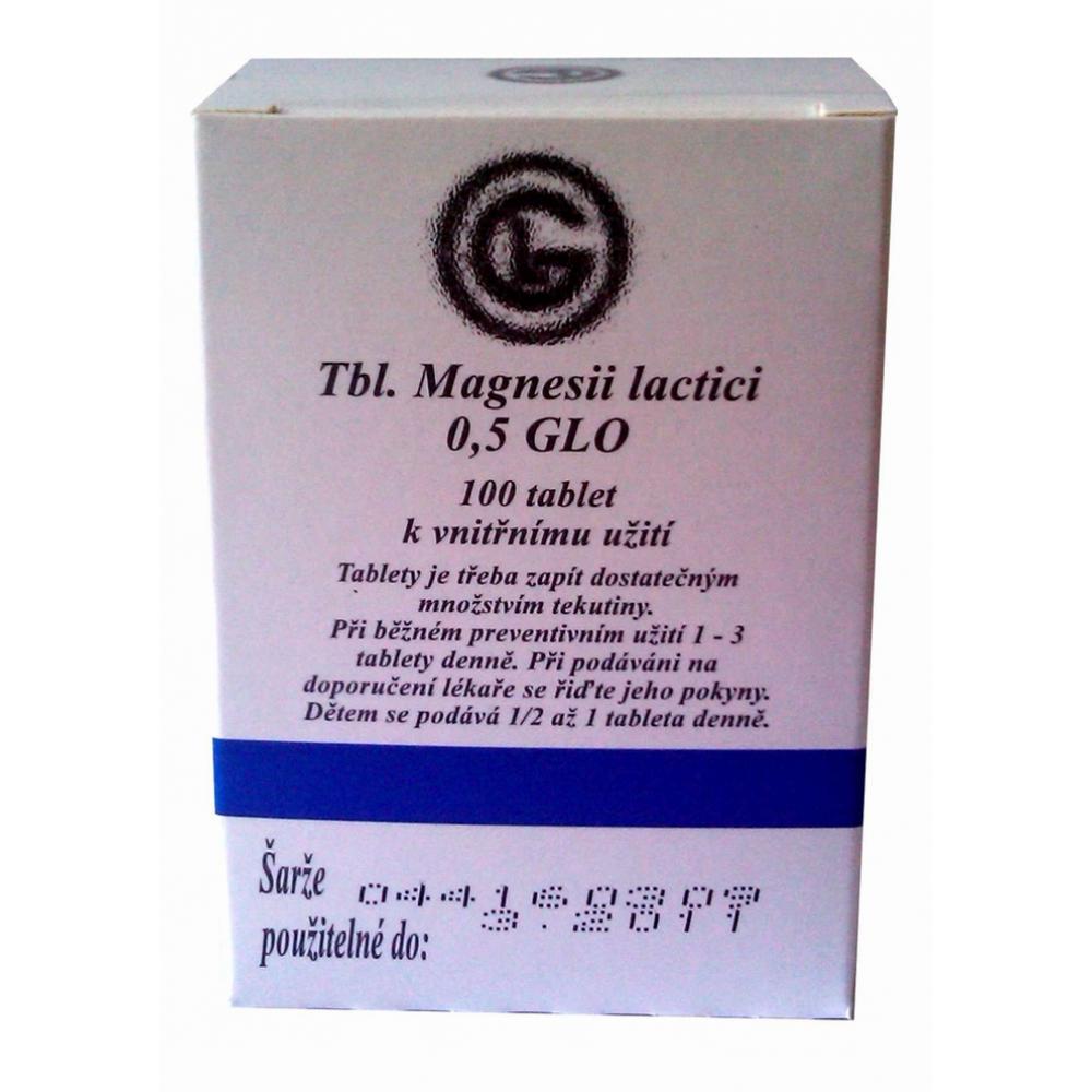 TBL.MAGNESII LACTICI 0.5 GLO TBL 100X500MG