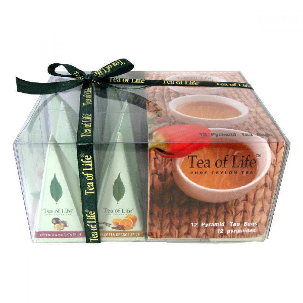 Tea of Life Zelený čaj dárková kolekce 4 příchutě 12ks pyramid