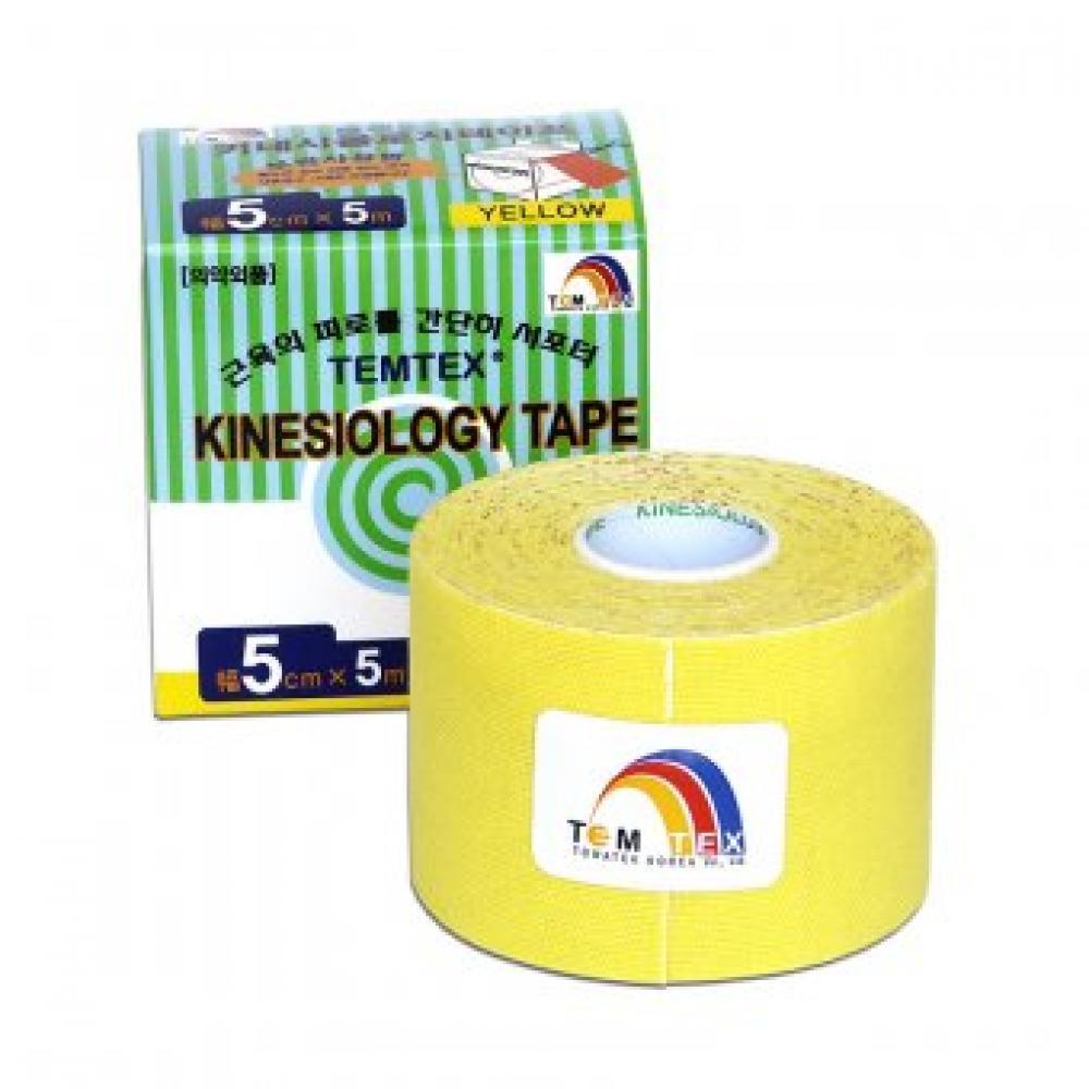 TEMTEX Tejpovací páska žlutá 5cmx5m