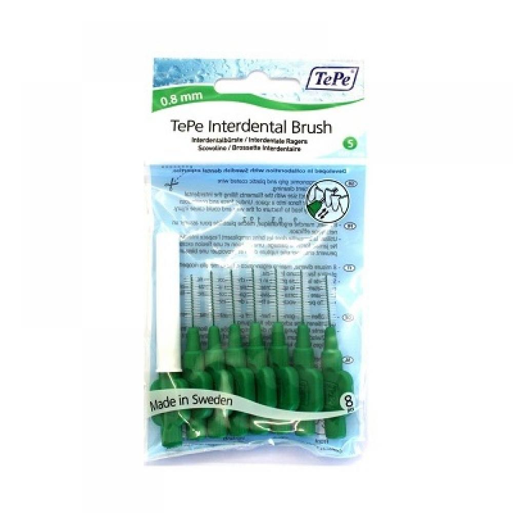 TEPE Mezizubní kartáčky 0,8 zelené 8 ks: Výprodej