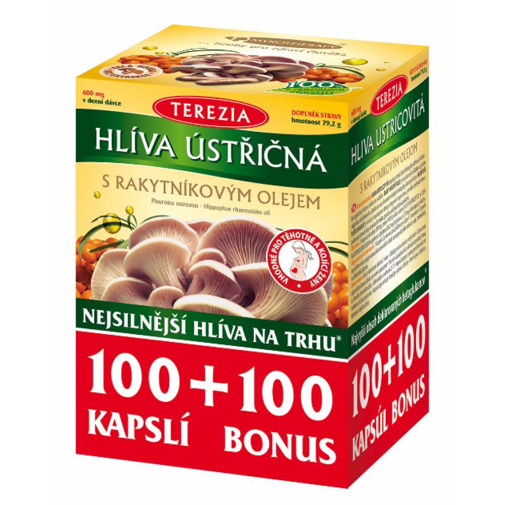 TEREZIA Hlíva ústřičná s rakytníkovým olejem 100+100 kapslí BONUS