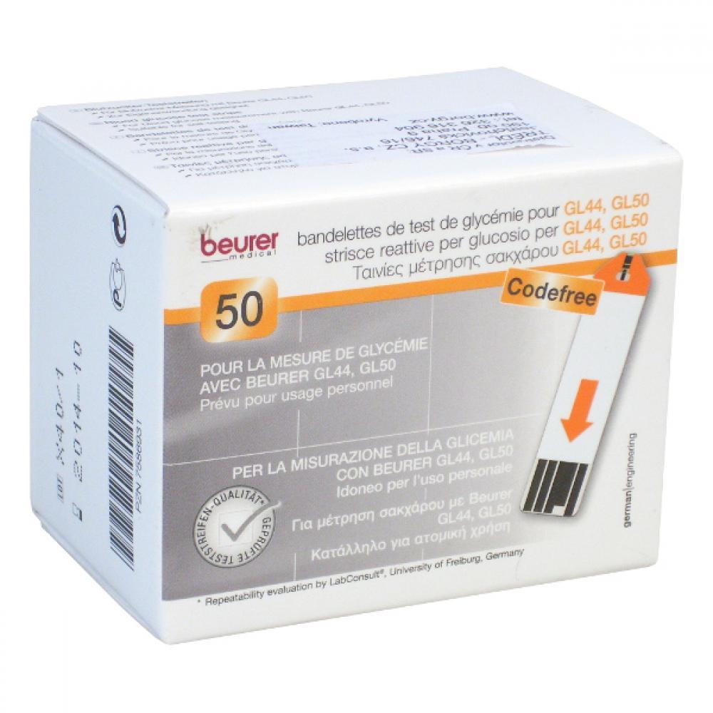 Testovací proužky na glukometr Beurer GL44/GL50 2x25ks