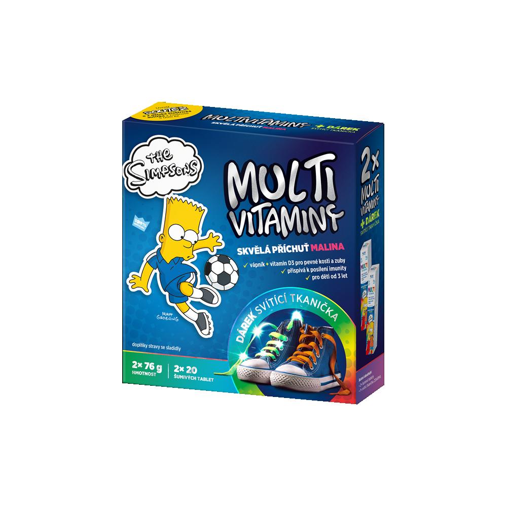 REVITAL The Simpsons Multivitamíny 2 x 20 tablet + svítící tkanička ZDARMA