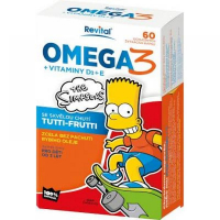REVITAL The Simpsons Revital Omega 3 + vitaminy D3 a E 60 kapslí