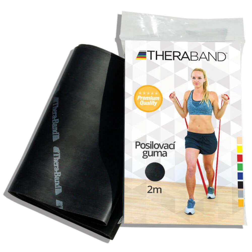 THERA-BAND Posilovací guma speciálně silná - černá 2 m