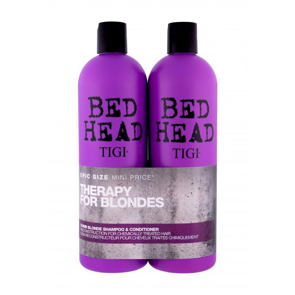TIGI Bed Head Dumb Blonde šampon 750 ml + kondicionér 750 ml