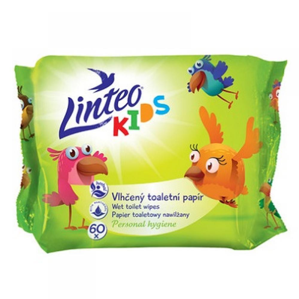LINTEO Vlhčený toaletní papír Kids 1-vrstvý 60 kusů