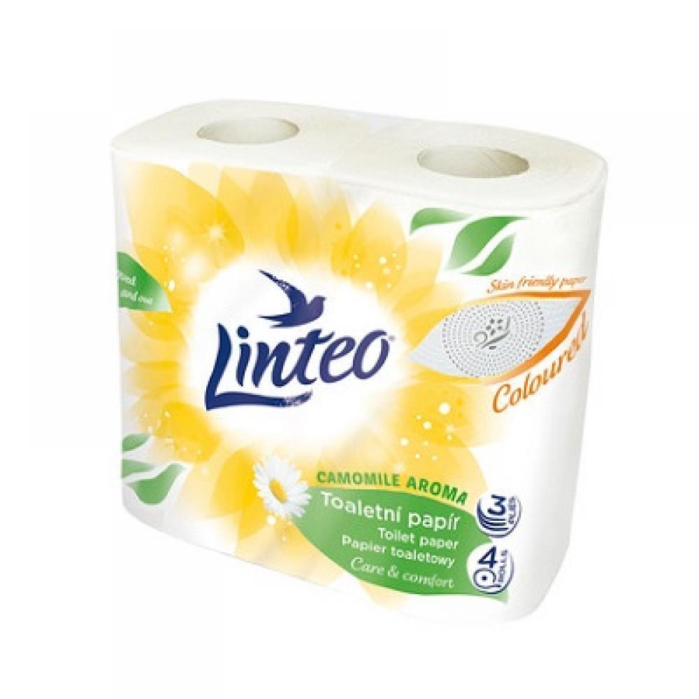 Toaletní papír LINTEO Satin 3vrst. 4ks parfemovaný