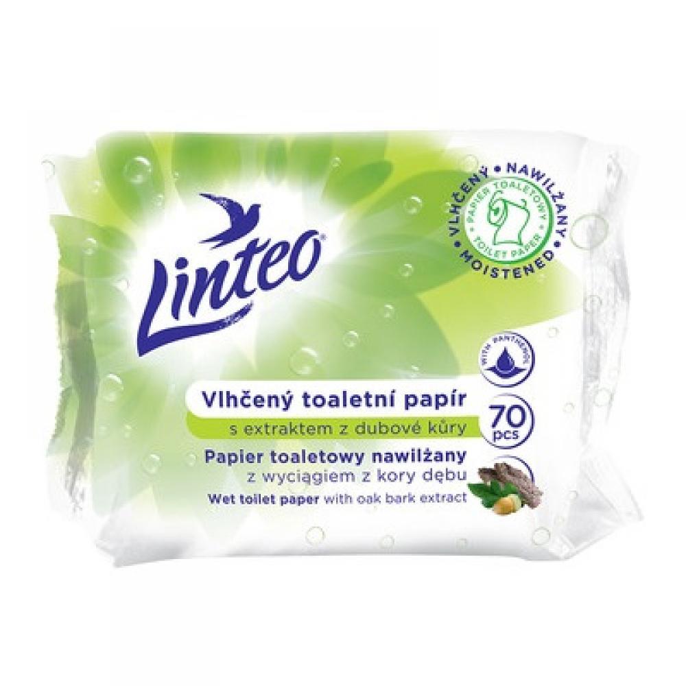 LINTEO Vlhčený toaletní papír s extraktem z dubové kůry 70 kusů