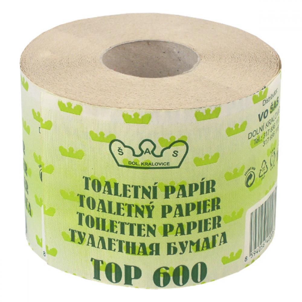 Toaletní papír recyklovaný, 600 útržků