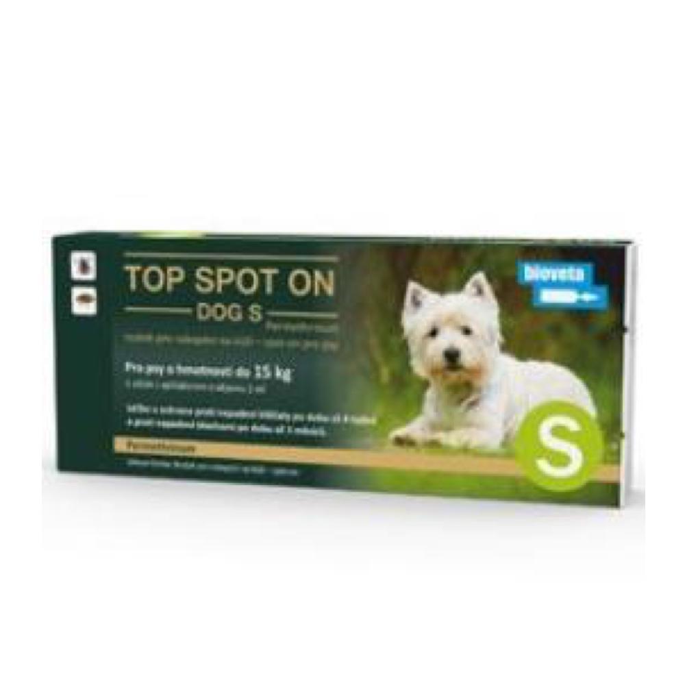 TOP SPOT on Dog S 1x1 ml (do 15kg)