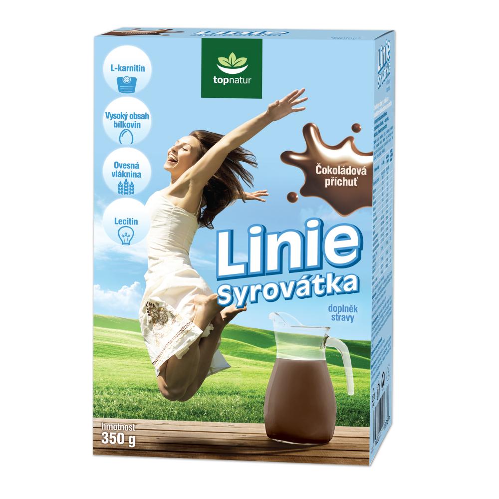 TOPNATUR Syrovátka Linie čokoládová 350 g