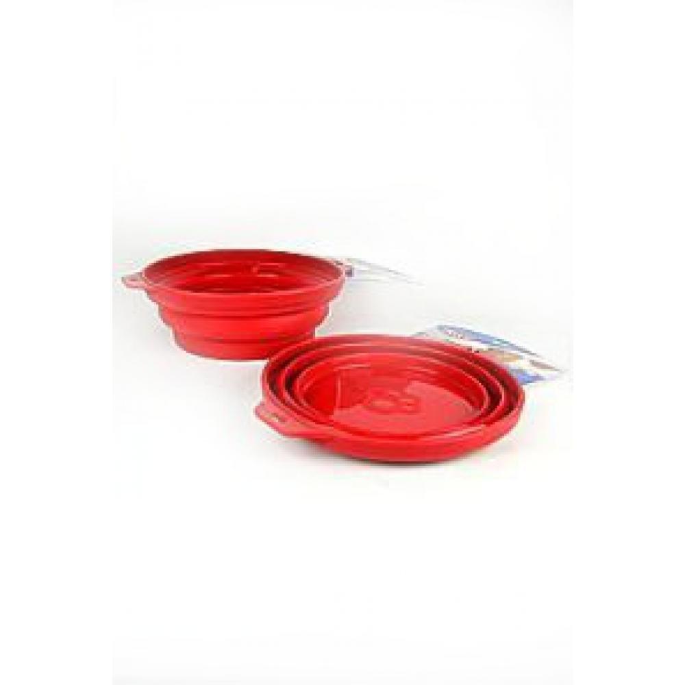TRIXIE Miska silikonová cestovní sklapovací červená 2l 22 cm