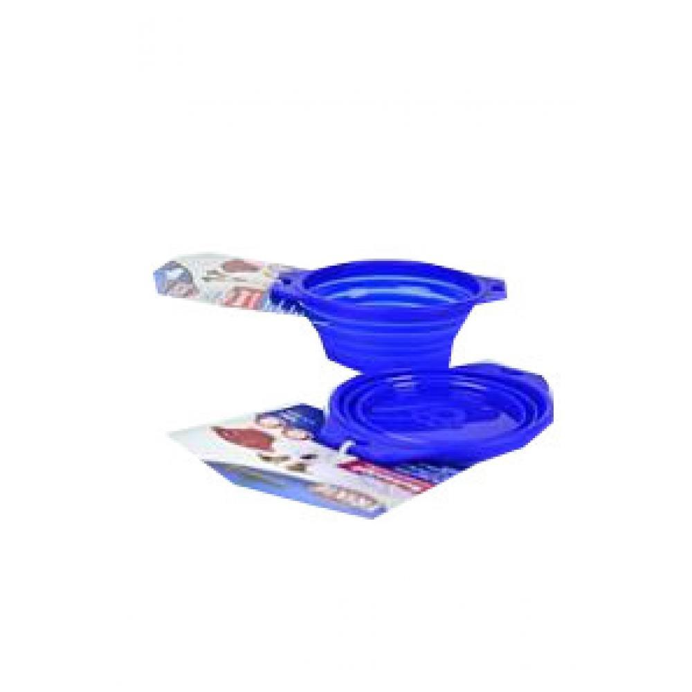 TRIXIE Miska silikonová cestovní sklapovací modrá 0,25 l 11 cm