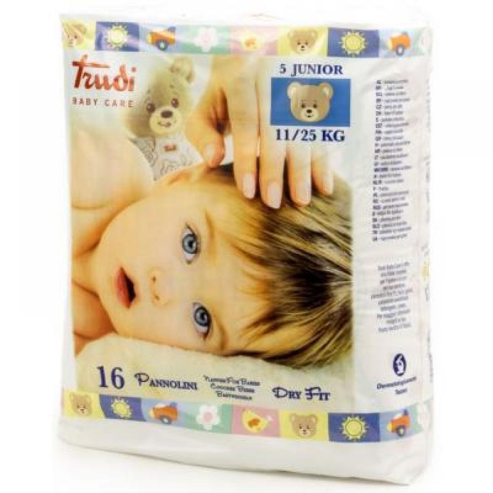 TRUDI Dětské pleny Dry Fit Perfo Soft Junior 11-25 kg 16 ks