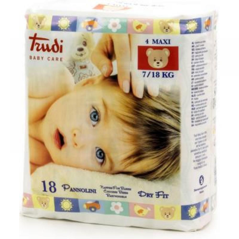 TRUDI Dětské pleny Dry Fit Perfo-Soft Maxi 7-18 kg 18 ks