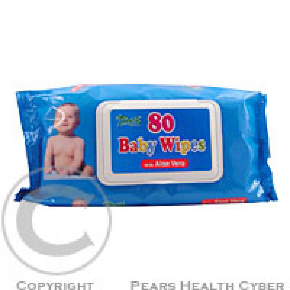 Ubrousky dětské hygienické Baby Wipes Aloe V.80 ks s distr
