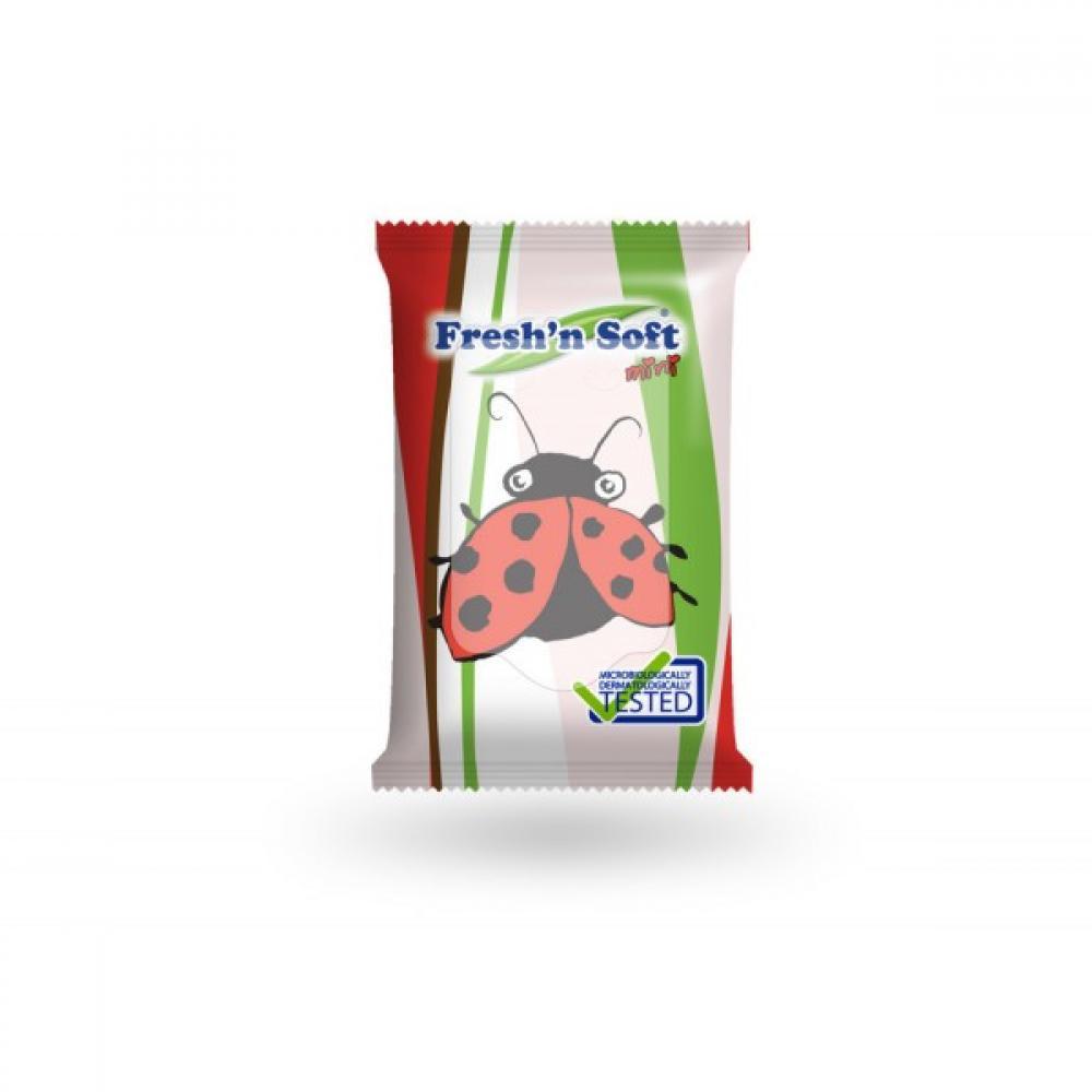 Fresh'n Soft Ubrousky vlhčené mini pro děti Beruška 10 ks