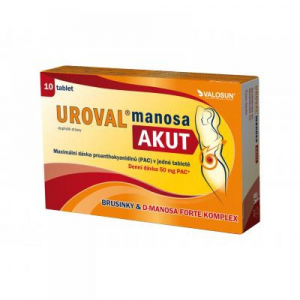 UROVAL manosa AKUT 10 tablet