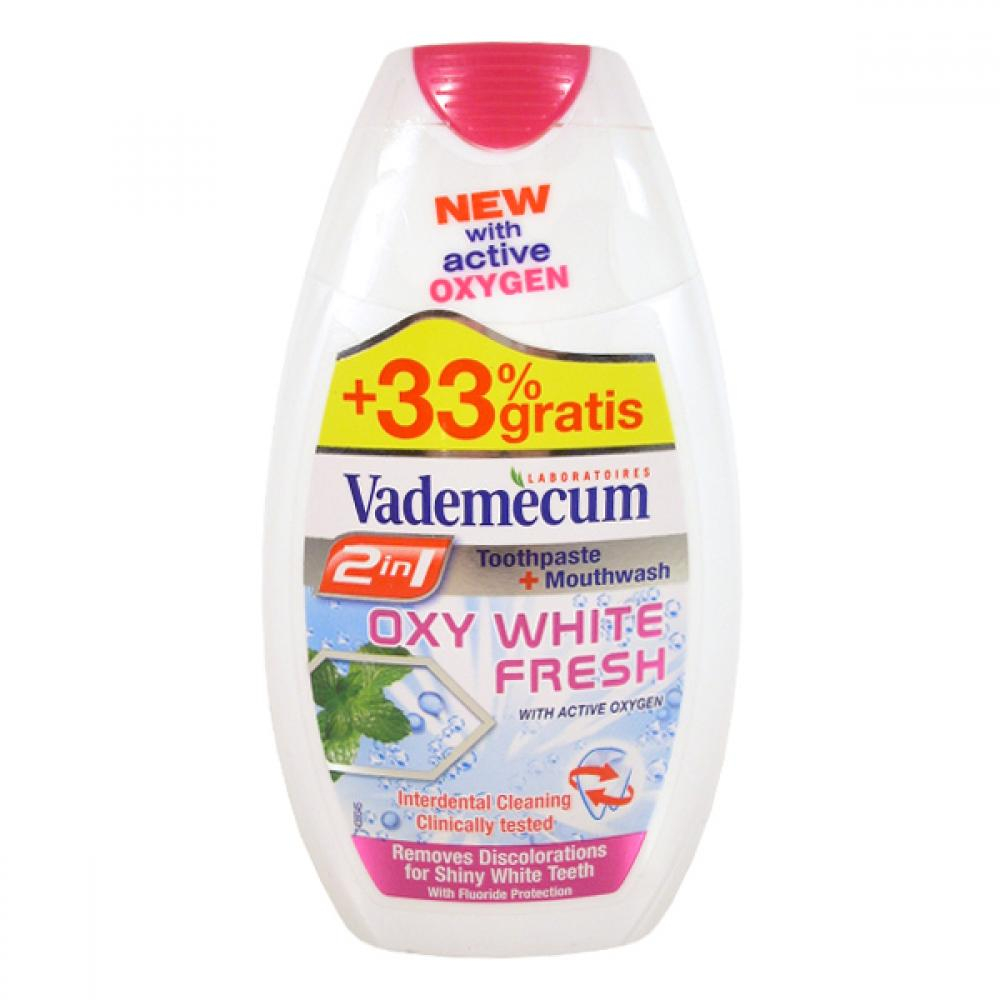 VADEMECUM 2v1 (zubní pasta+ústní voda) oxywhite fresh 75ml