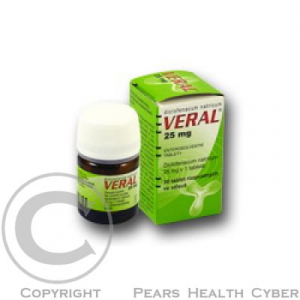 VERAL 25 MG  30X25MG Tablety