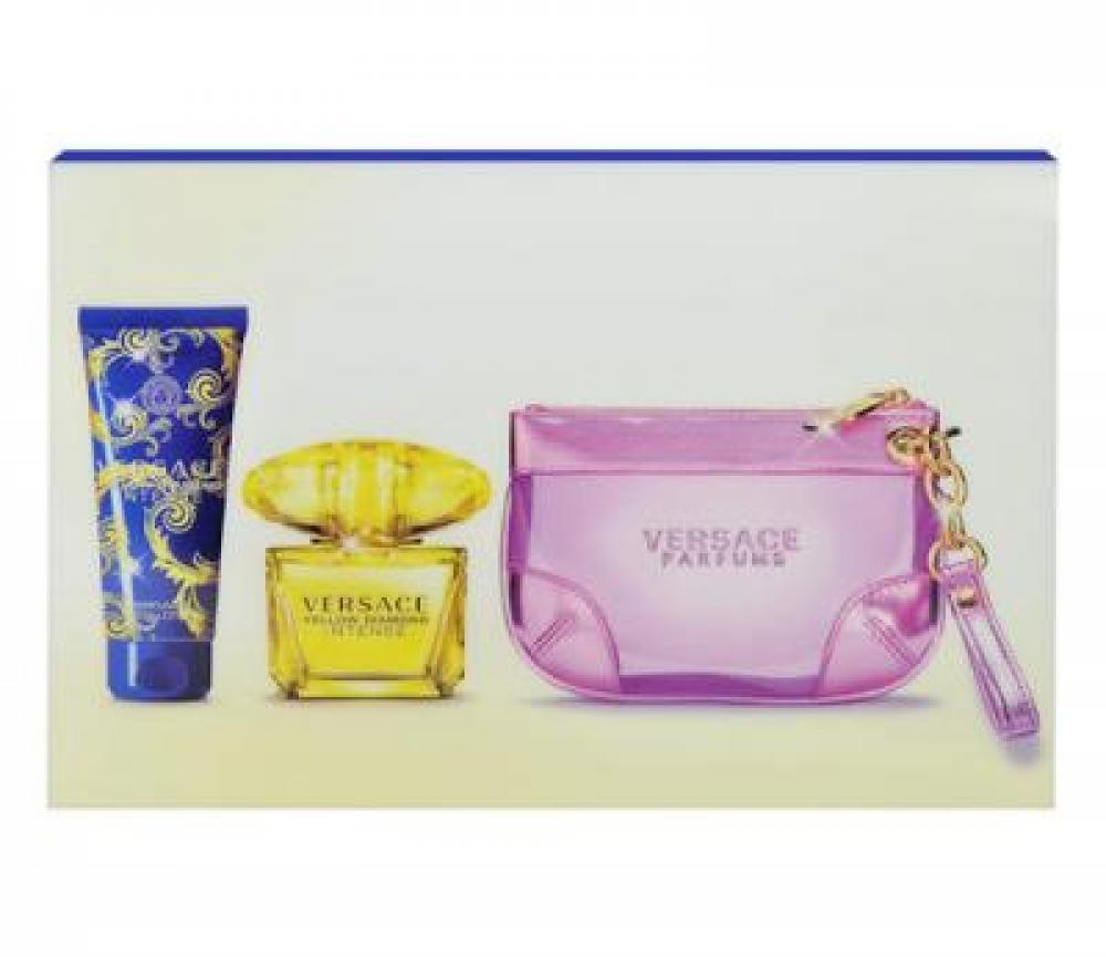 Versace Yellow Diamond Intense Parfémovaná voda 90ml + 100ml tělové mléko + kabelka