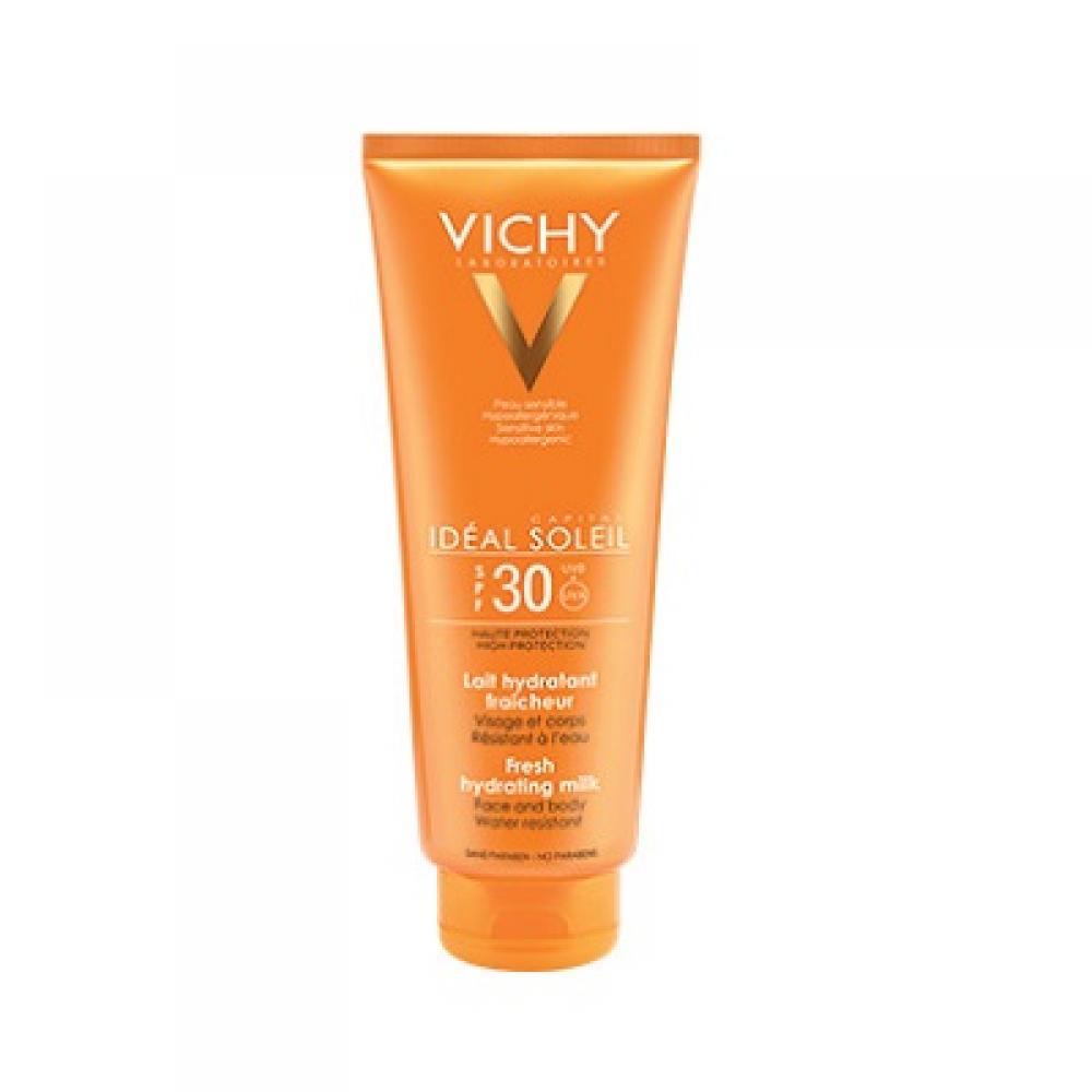 VICHY Capital Soleil SPF 30 mléko na obličej a tělo pro dospělé i děti 300ml