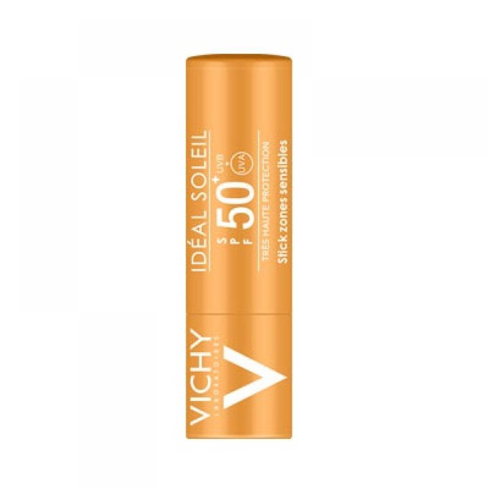 VICHY Ideál Soleil ochranná tyčinka pro ochranu citlivých partií a rtů SPF 50+ 9 g