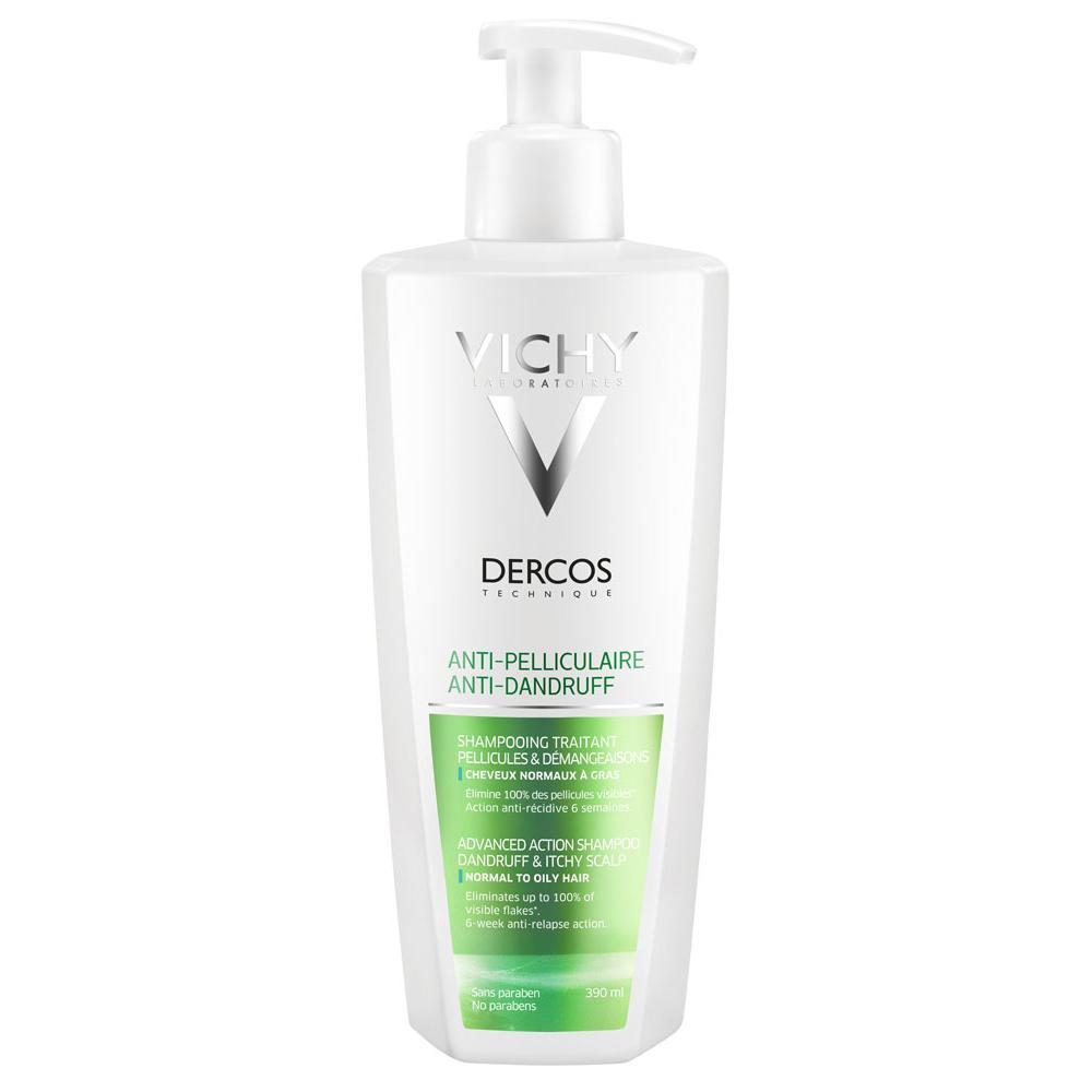 VICHY Dercos šampon proti lupům na normální až mastné vlasy 390 ml