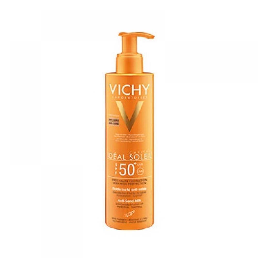 VICHY Ideal Soleil mléčný fluid odpuzující písek SPF 50+ 200 ml
