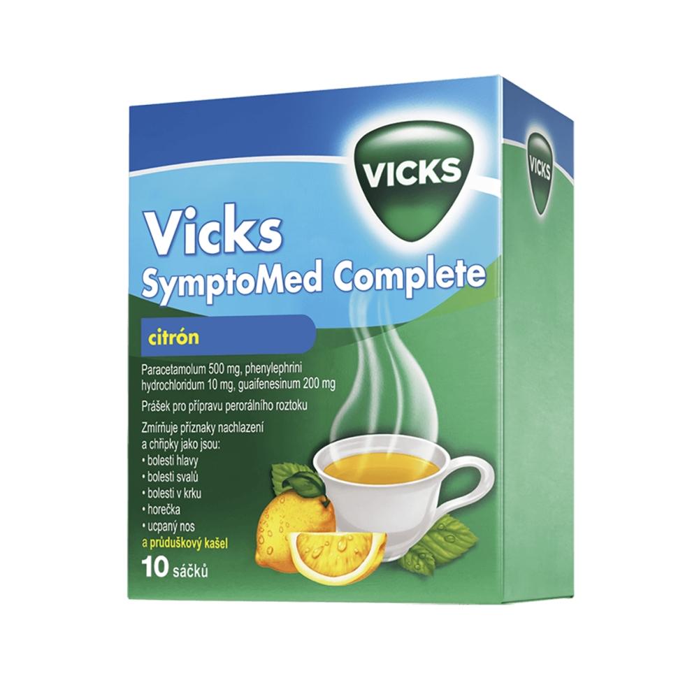 Vicks SymptoMed Complete citrón 10 sáčků