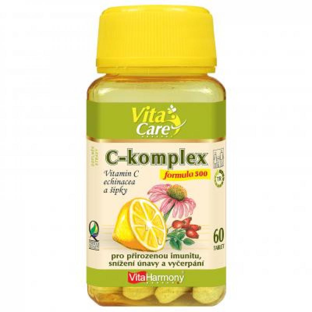 VitaHarmony C-komplex 500 mg tbl. 60 + echinacea + šípek