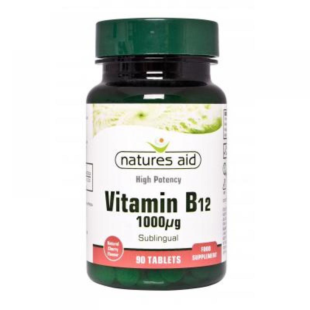Natures aid Vitamín B12 1000 µg, 90 tbl.