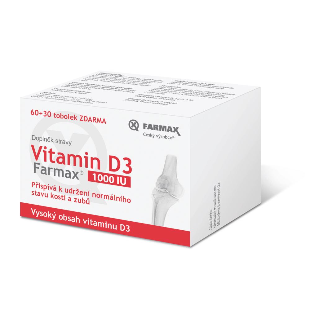 SVUS Vitamin D3 60+30 tobolek ZDARMA