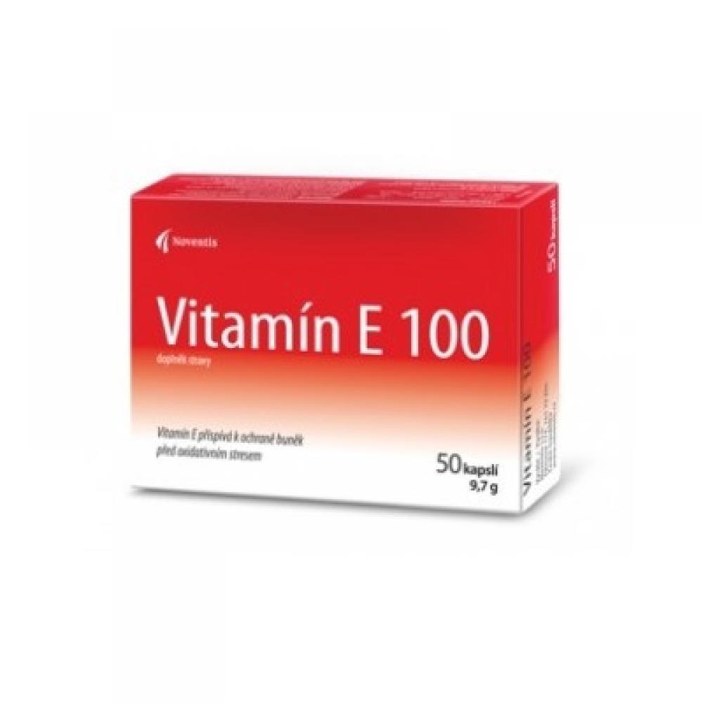 NOVENTIS Vitamín E 100 mg 50 kapslí