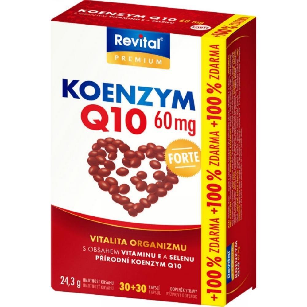 REVITAL Koenzym 60 mg + vitamin E a selen 30+30 kapslí ZDARMA