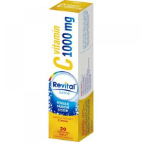 REVITAL Vitamin C 1000 mg Citron 20 šumivých tablet
