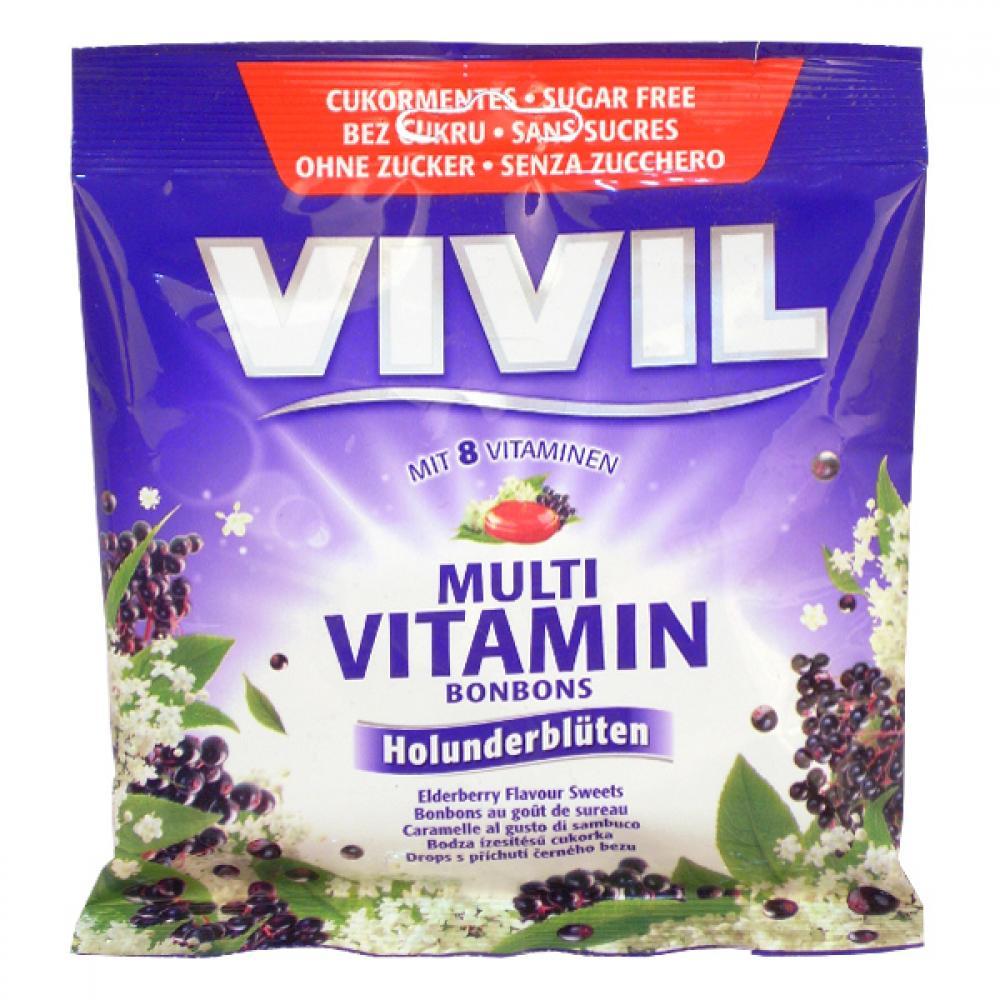 VIVIL Multivitamín černý bez cukru 60 g