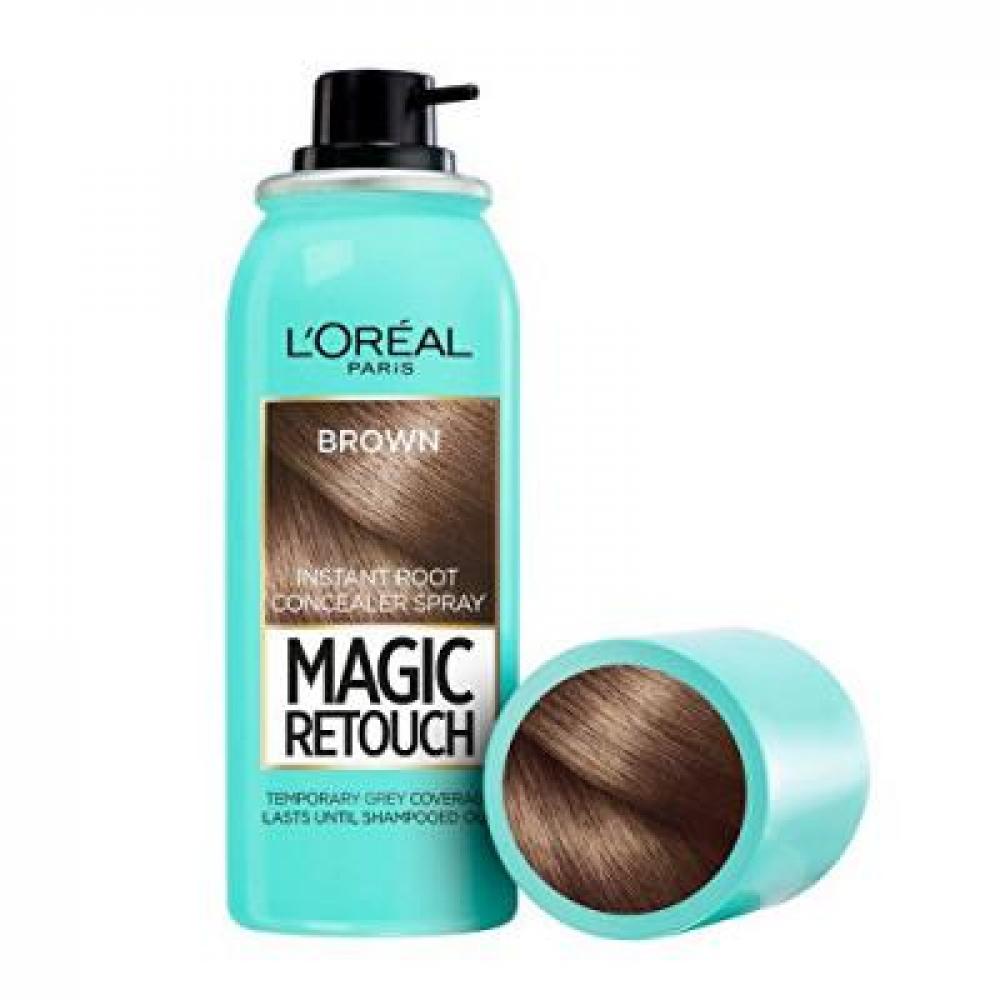 L'ORÉAL Magic Retouch Vlasový korektor šedin a odrostů 01 Black 75 ml