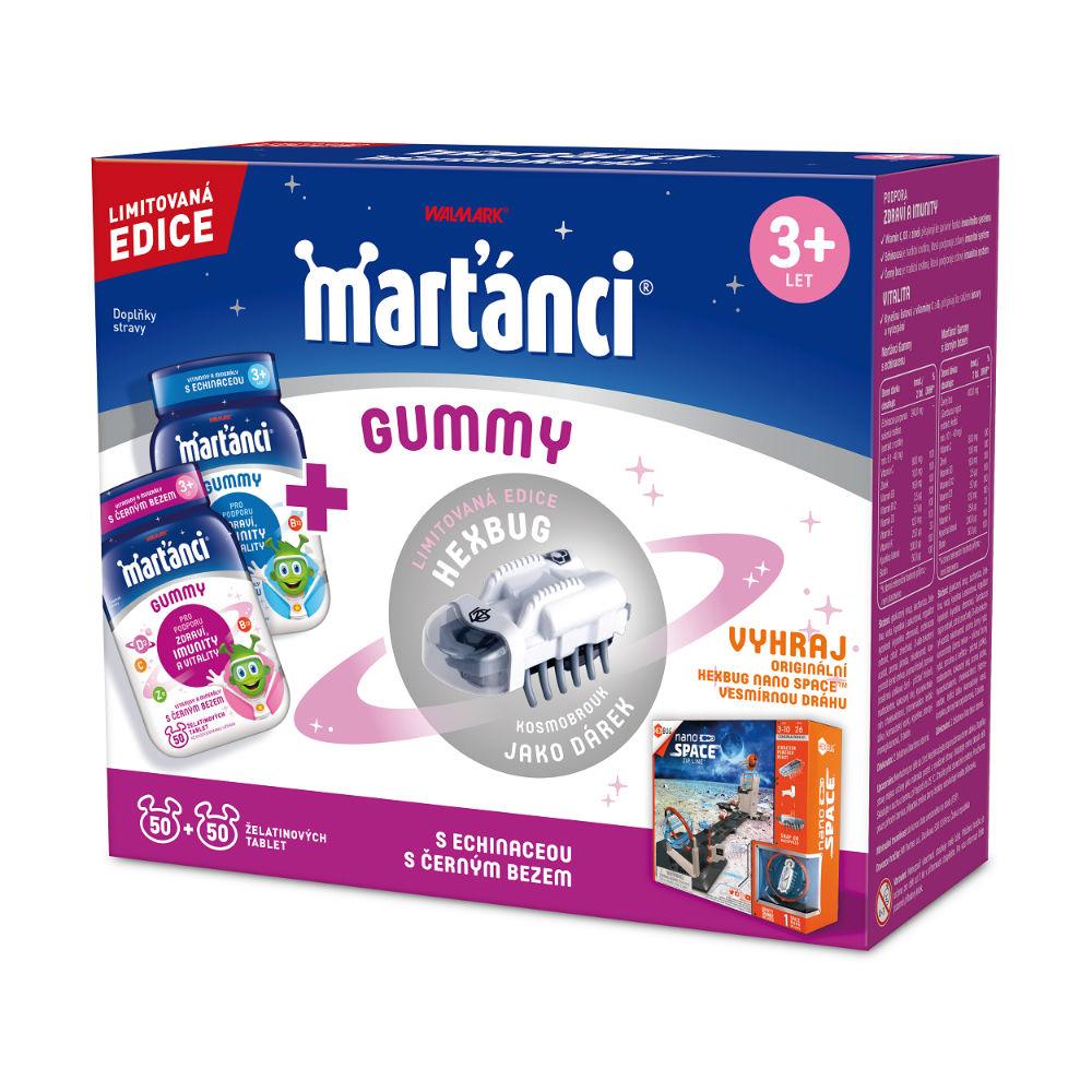 WALMARK Marťánci Gummy 50+50 tablet + Hexbug brouk