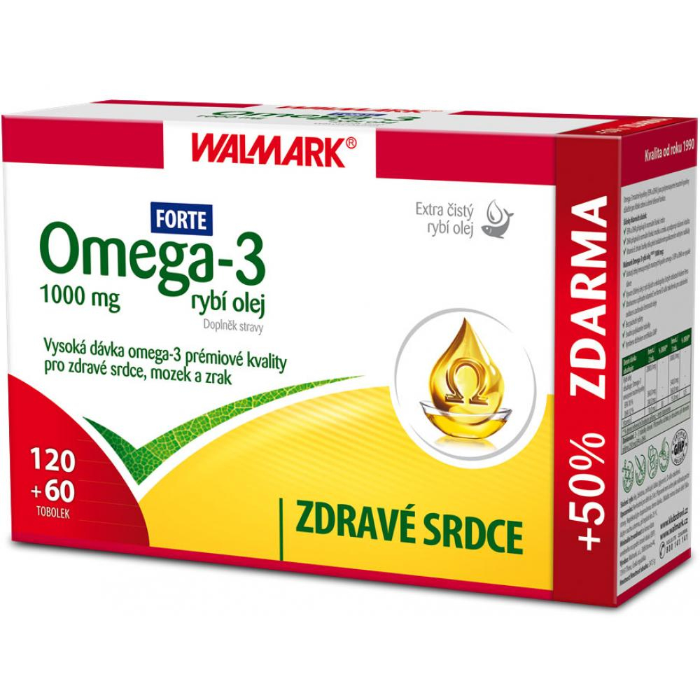 WALMARK Omega 3 Forte rybí olej 180 tobolek