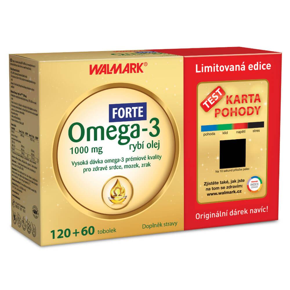 WALMARK Dárkové balení Omega 3 Forte 120+60 tobolek
