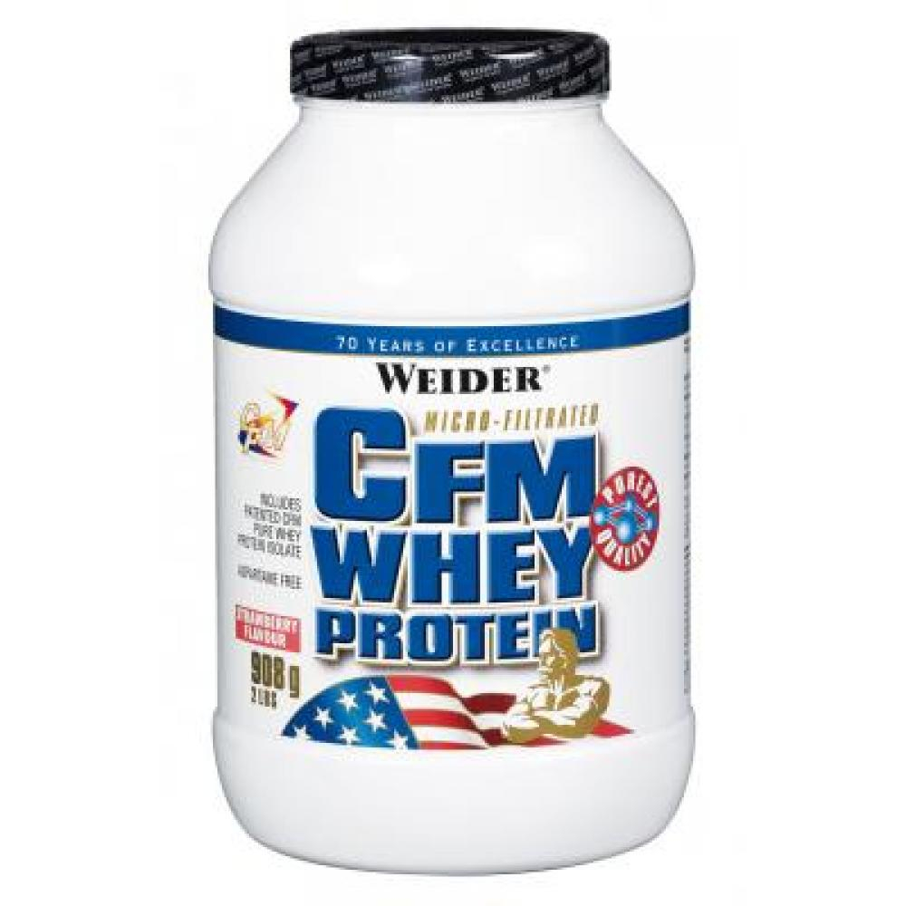 CFM Whey Protein, syrovatkový protein, Weider, 908 g - Jahoda
