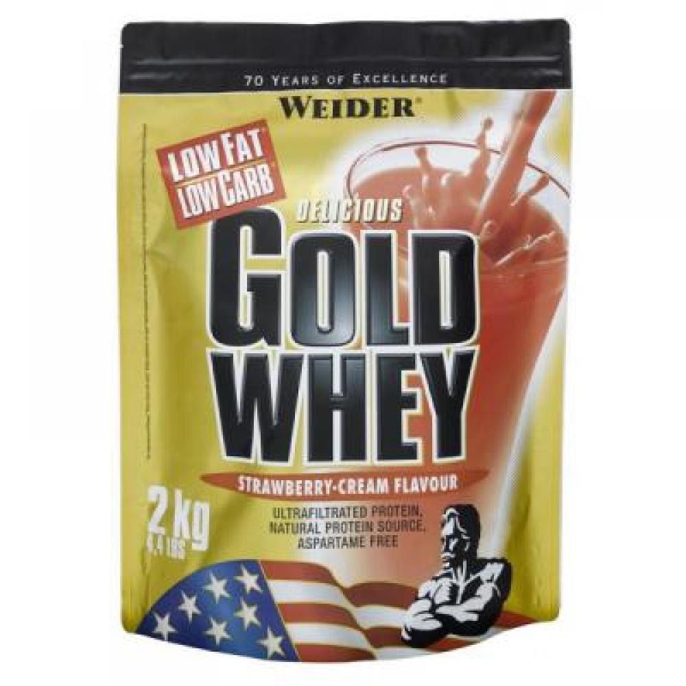 Gold Whey, syrovátkový protein, Weider, 2000 g - Jahoda