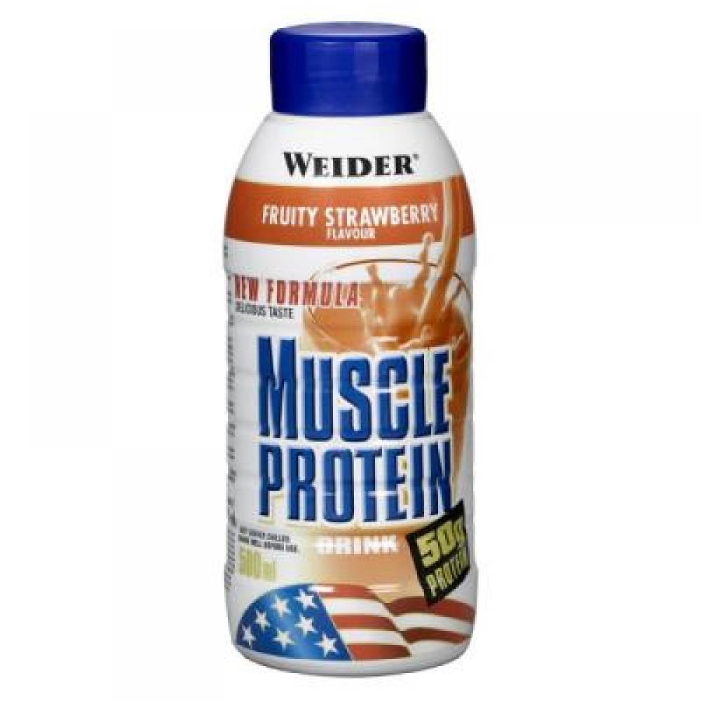 WEIDER Muscle proteinový nápoj RTD jahoda 500 ml