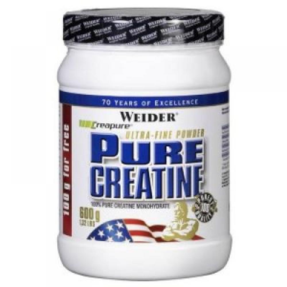 Pure Creatine, Kreatin monohydrát, 600 g, Weider