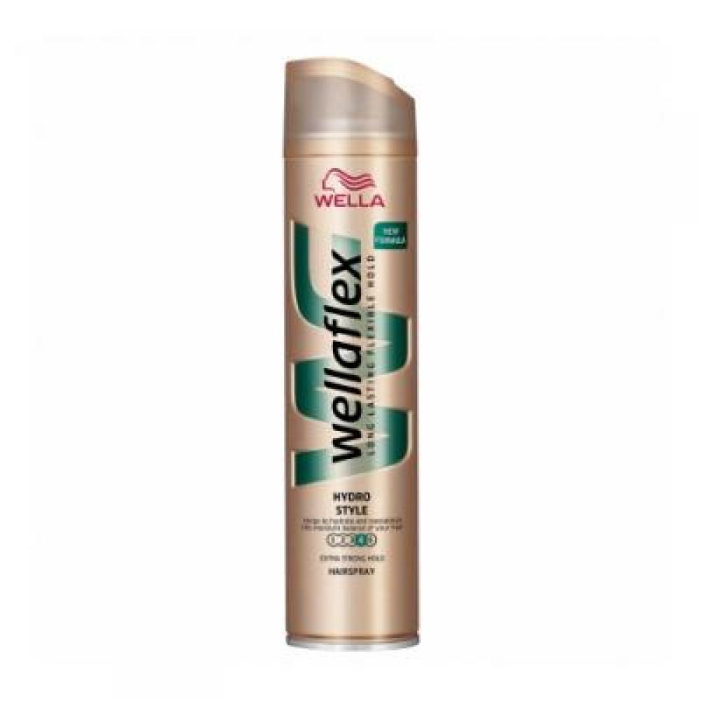 WELLAFLEX Hydro style lak na vlasy extra silný 250ml