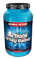 AMINOSTAR Actions Whey Gainer 15% 2250 g - Jahoda