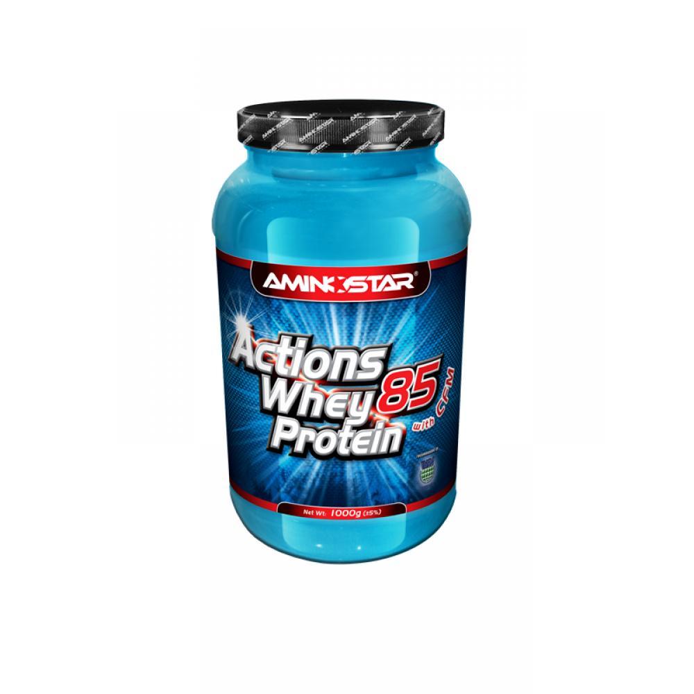AMINOSTAR Whey protein actions 85 jahoda 1000 g